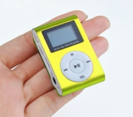 Mp3 atskaņotājs LCD Micro SD, mp3 player, Gold/Green