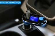 Bluetooth transmitteris Blue/Black 2 in1 charger