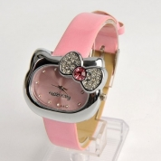 Hello Kitty pulkstenis,heart shape, dark pink, Quartz